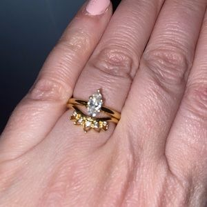 Jewelry - Marquise Moissanite Ring .54 C in 10k Gold